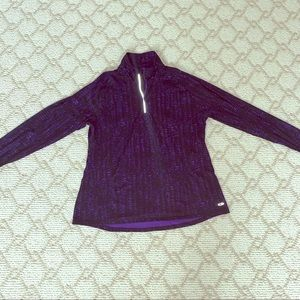 Black and purple workout dryfit zip up jacket